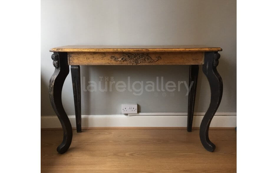 Crackled Gilt Console Table