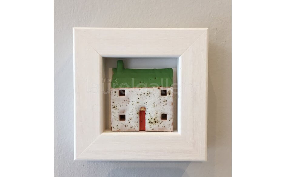 Framed Ceramic Houses by Pauline Montgomery