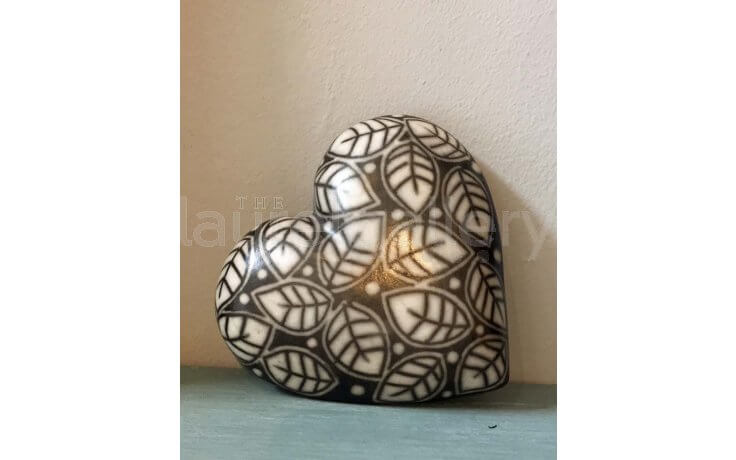 Ceramic Heart with Cold Lustre by Debbie Barber