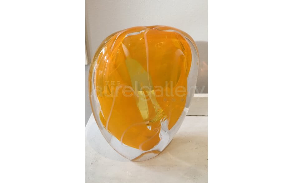 Blown Glass vases - Amber Large